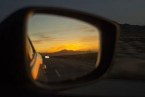 sunset color orange perspective beautiful mirror