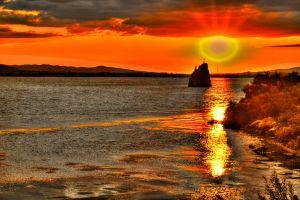 sunset gottes auge water himmelsrã¶te sonnenuntergang surrealismus gott wolken wasser romania