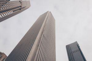 tallest skyline exterior glass windows office architectural design perspective tall facade modern