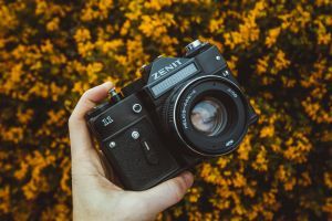 technology zenit dslr camera vintage lens digital camera analogue zoom shutter close-up equipment