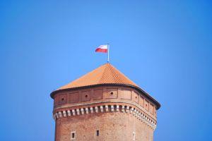 tower building castle polish blue historic krakow polish flag history poland