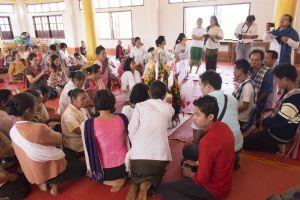 tradition myanmar buddhism religion world monk lao asia alms elephant
