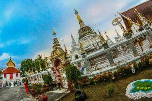 traditional art buddhist chiangmai asia culture landscape wat lanna singh