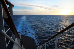 water minimalism nature fun blue sky waves ship sunset cruise sea