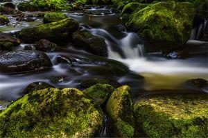 waterfall fluent atmosphere landscape nature steinchen beautiful idyllic romantic water games