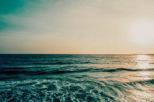 waves golden hour sea nature ocean water sky sun clouds seascape