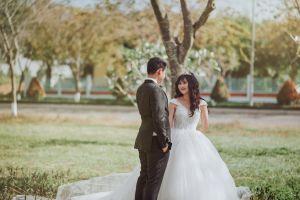wear romantic happiness photoshoot adult smile marriage couple groom man
