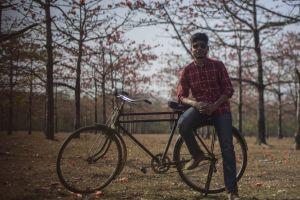 wheel daylight cyclist tree man adult