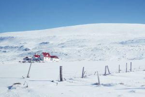 winter landscape snow iceland
