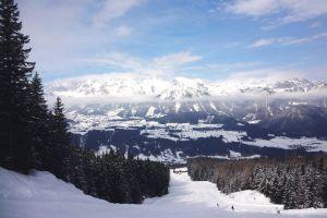 winter mountain cloud ski holiday snow mountain skiing snow