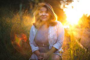 woman brazilian woman plus sunset female girl