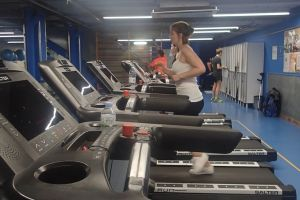 woman treadmill lifestyle active gym person fitness