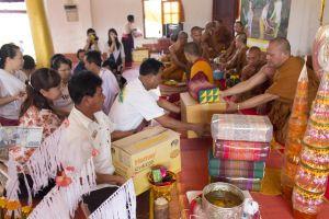 world buddhism monastery market monk festival laos food culture lao
