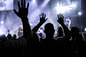worship applause nightlife musicians rave people dancing audience party crowd