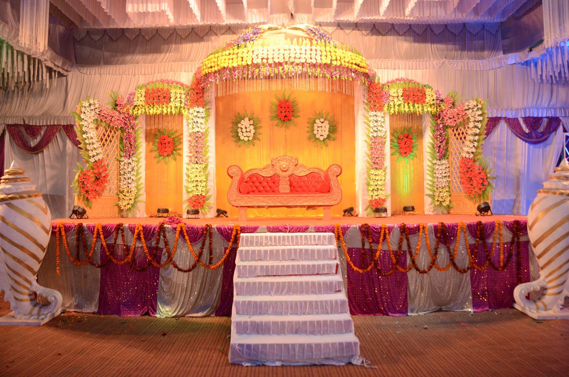 wedding setup revolving stage wedding