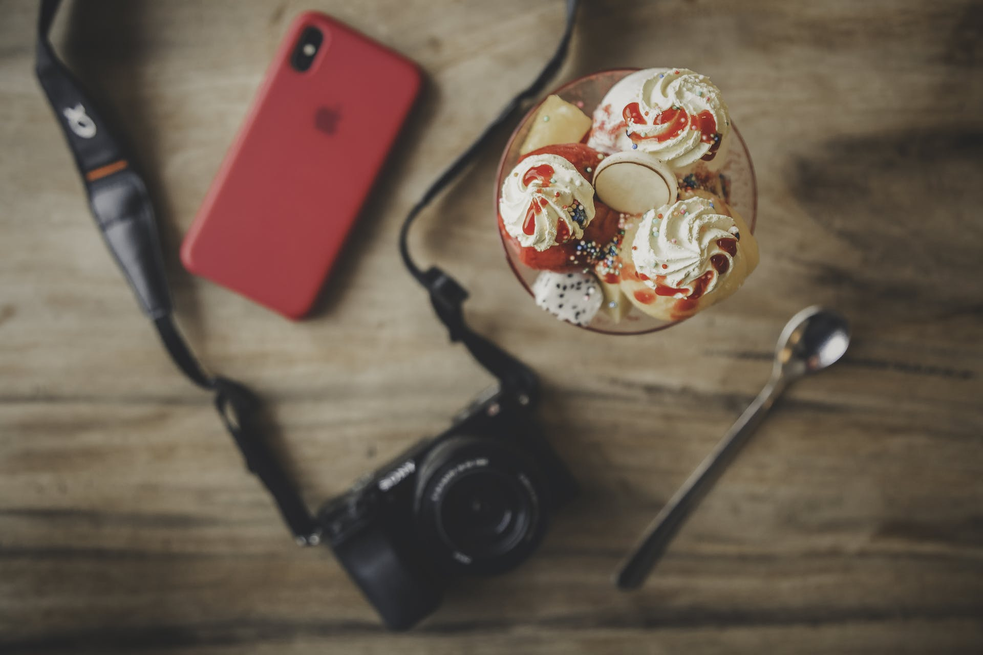 cell phone sweets camera electronics food smartphone