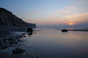 ã©tã© sea soleil sky contre-jour sun rocher seascape