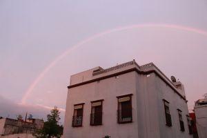 africa sunset rainbow