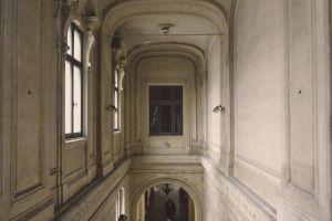 arch architecture interior library center central
