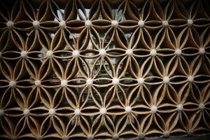 architectural design pattern shapes wall outdoor patterns see through wall flower pattern