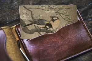 art card indoors gold wear wallet leather