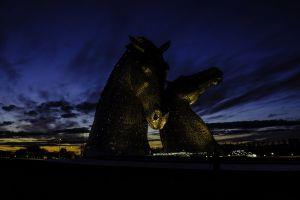 art scenery landmark sunset evening backlit lights sculptures sky landscape