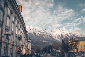 austria snow innsbruck mountains