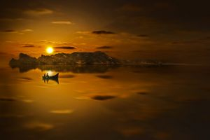 backlit reflection seascape water light morocco sunset seashore sea boat