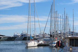 beach marine yachts sailboats water