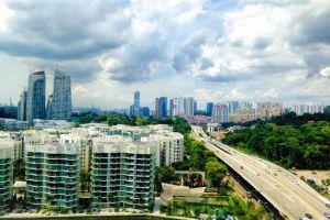 beautiful cloud city view