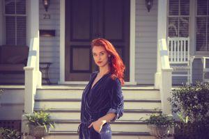 beautiful wear photoshoot pretty porch stylish dress step model woman