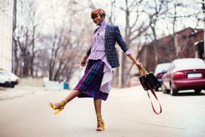 blazers style colorful road cars hair city fashion model girl