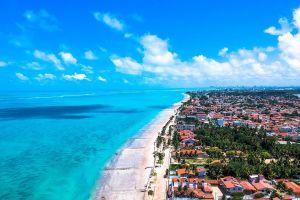blue ocean drone cam aerial city sand aerial view vacation drone shot seashore aerial shot