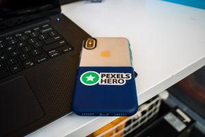 blue pexe laptop iphone