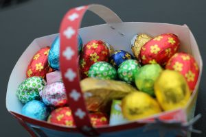 blur chocolates close up world easter decorations delicious close to close cool easter bunny