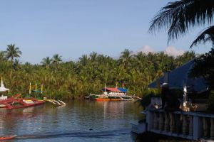 boat landscape summer