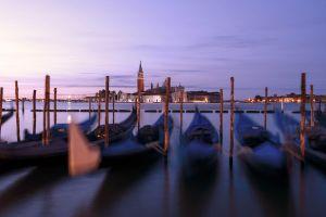 boats transportation system sky water buildings blur jetty dock architecture gondola