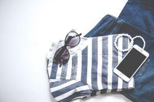 bracelets women fashion flatlay fashion clothes casual wear smartphone fashionable technology
