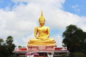 buddha architecture sky tourism peaceful buddhist religion golden art buddhism
