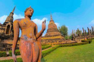 buddhism srichum sukothai destination thailand ancient hand heritage history wat