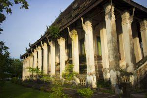 buddhist antique golden landscape city urban traditional laos art thong