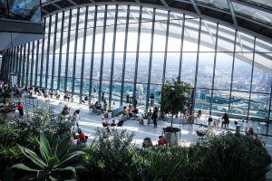 chairs architecture plants architectural design indoors windows people garden glass windows building