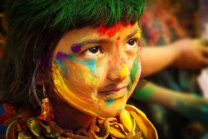 child color holi