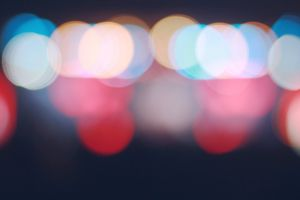citylights blue red blur