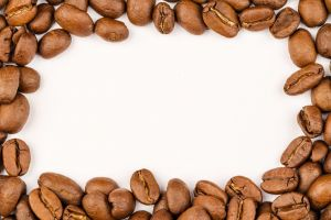 close-up beans freshness aroma texture brown macro photography seeds white background grains