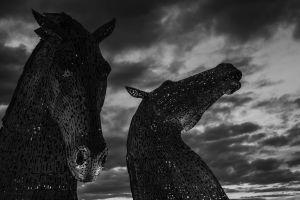 cloud landscape black and white dawn statue scotland sun ocean sculpture landmark