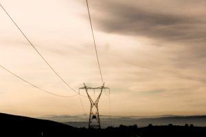 cloudy sky mountain black grey telegraph pole dark clouds minimalism camino de santiago spain