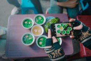 color device camera food photography food meal hands person technology screen