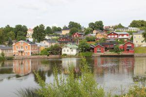 colorful houses kaupunki summer suomi finland maisema city puutaloja porvoo