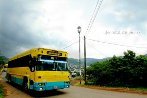 colors traveling in the mountain nikon photo travel sky clouds old bus